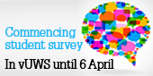 Commencing student survey in vUWS. Closes 6 April
