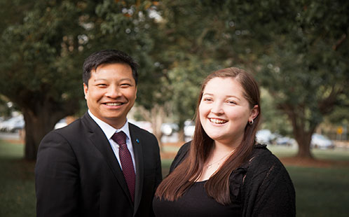 Hayley Thrupp and Professor Lan