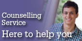 Promotional button linking to UWS Counselling Service page