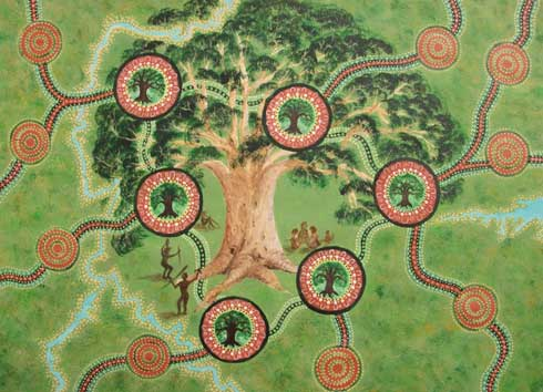 Tree of Knowledge. Artist: Mrs Janice Bruny, Bachelor of Fine Arts (Honours), Honours Class 1